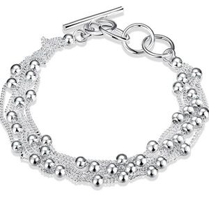 "Jewelry - Silver Bracelets for Women Adjustable 6.69"" -7.87"""